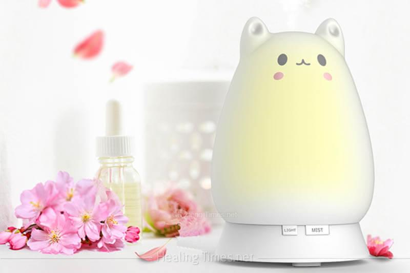 癒される形状の加湿器!ネコ型加湿器アロマディフューザー!萌えニャンコ アロマライト!