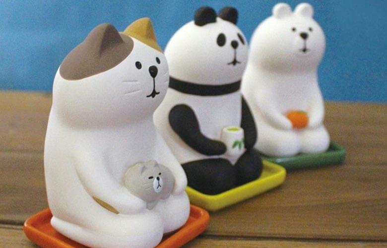 しっとり壺!癒やされる表情の動物陶器の加湿器でしっとり!表情が可愛いデコレの動物達
